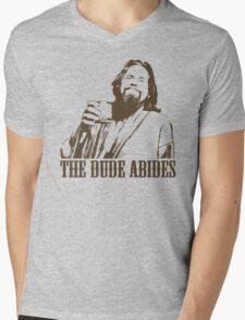 The Big Lebowski The Dude Abides T-Shirt Mens V-Neck T-Shirt