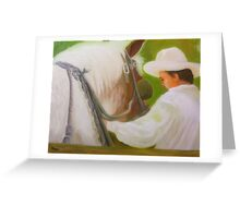 Working Horse To Rest Greeting Card