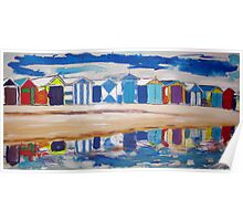 Brighton Beach Huts /Bathing Boxes Poster