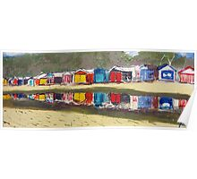 Bathing Box Reflections Poster