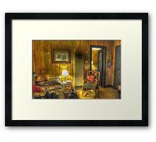 Old Cabin HDR Framed Print