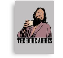 The Big Lebowski The Dude Abides Color T-Shirt Canvas Print