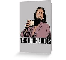 The Big Lebowski The Dude Abides Color T-Shirt Greeting Card