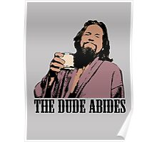 The Big Lebowski The Dude Abides Color T-Shirt Poster