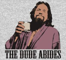 The Big Lebowski The Dude Abides Color T-Shirt by theshirtnerd