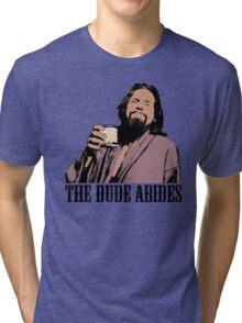 The Big Lebowski The Dude Abides Color T-Shirt Tri-blend T-Shirt