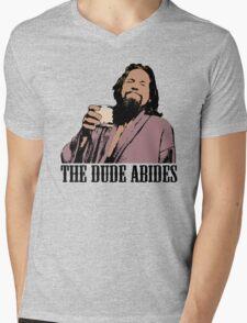 The Big Lebowski The Dude Abides Color T-Shirt Mens V-Neck T-Shirt
