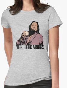 The Big Lebowski The Dude Abides Color T-Shirt Womens Fitted T-Shirt