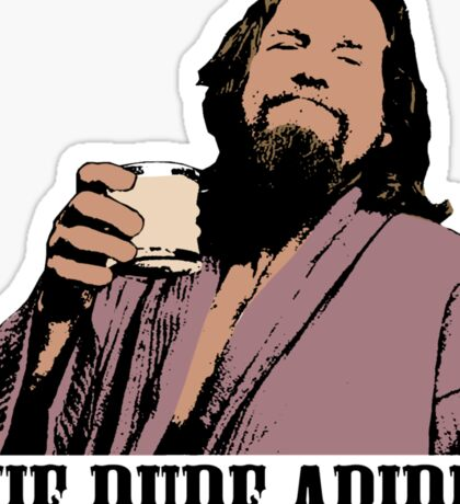 The Big Lebowski The Dude Abides Color T-Shirt Sticker