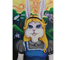 Rabbit Alice Photographic Print