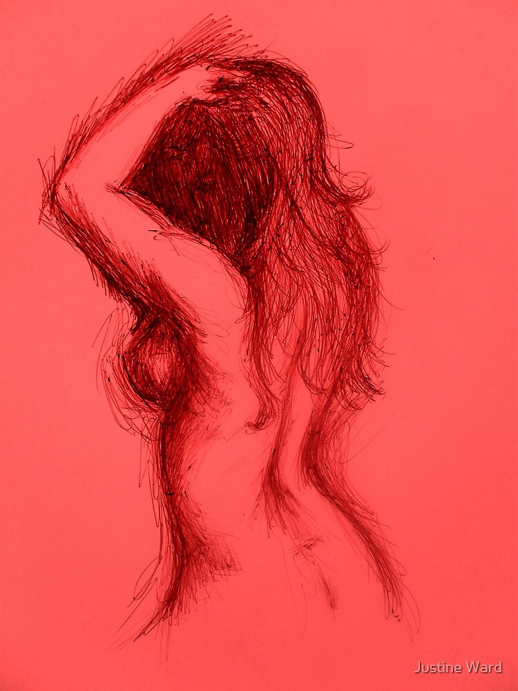 Woman in Red by Justine Ward