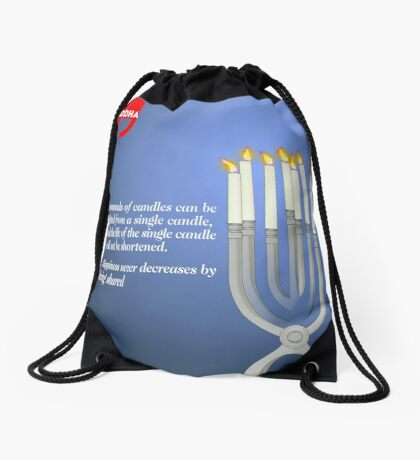 Sharing the Light (Buddha's Quote) Drawstring Bag