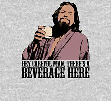 The Big Lebowski Careful Man There's A Beverage Here Color T-Shirt Unisex T-Shirt
