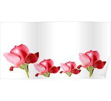 border frame of red roses Poster