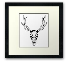Deer dots tattoo  Framed Print