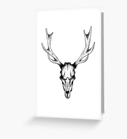 Deer dots tattoo  Greeting Card