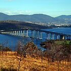The Tasman Bridge. Hobart, Tasmania, Australia. by Ralph de Zilva