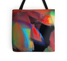 the red necktie under a chalk covered multi colored suit or love rained down.. take your pick Tote Bag