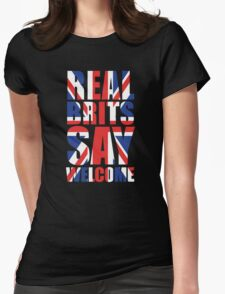 Real Brits Say Welcome Womens Fitted T-Shirt