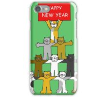 Happy New Year Cats iPhone Case/Skin