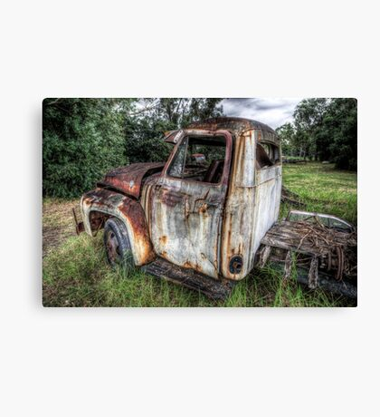 Old Milk Truck HDR Canvas Print
