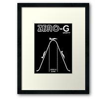 Zero Gravity Diagram Framed Print