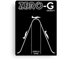 Zero Gravity Diagram Canvas Print