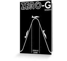 Zero Gravity Diagram Greeting Card
