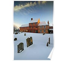 Hadleigh Guildhall in the Snow Poster