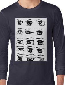 Manga Eyes Long Sleeve T-Shirt