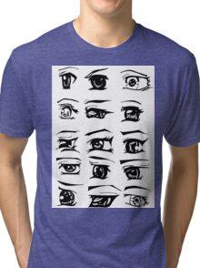 Manga Eyes Tri-blend T-Shirt