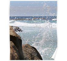 Water Splash-beer barrel beach  Poster