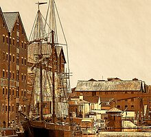 Tall Ship, Gloucester Docks, UK by buttonpresser