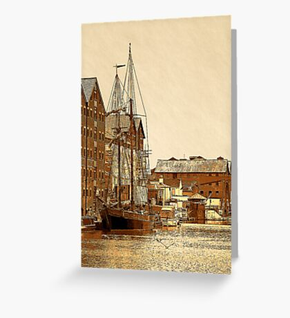 Tall Ship, Gloucester Docks, UK Greeting Card