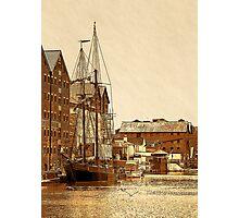 Tall Ship, Gloucester Docks, UK Photographic Print