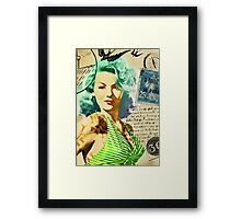 Vintage Rockabilly Inspired Pinup Framed Print