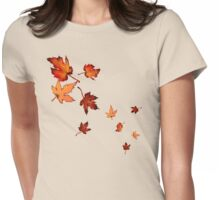 Fall Leaves Womens Fitted T-Shirt