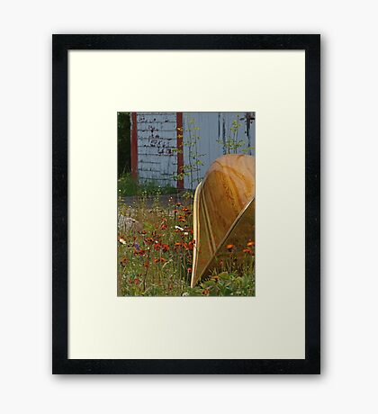 Crazy About Canoes Framed Print