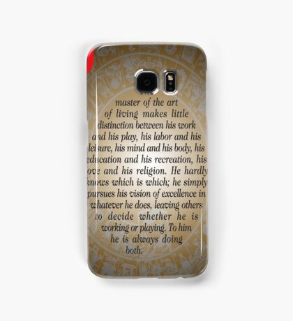 The Master of Art (Buddha's Quote) Samsung Galaxy Case/Skin