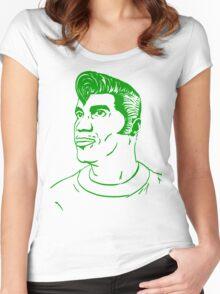 Kool Keith - Black Elvis (green) Women's Fitted Scoop T-Shirt