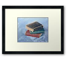 Old books - don't you just love `em Framed Print