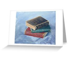 Old books - don't you just love `em Greeting Card