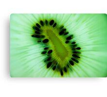 kiwi fruit close up Canvas Print