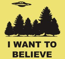 """""""I want to believe"""" X Files Kids Clothes"""
