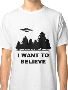 """I want to believe"" X Files Classic T-Shirt"