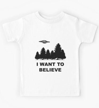 """I want to believe"" X Files Kids Tee"