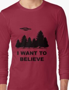 """I want to believe"" X Files Long Sleeve T-Shirt"