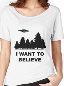 """""""I want to believe"""" X Files Women's Relaxed Fit T-Shirt"""