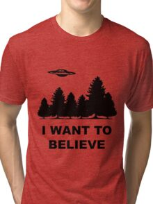 """I want to believe"" X Files Tri-blend T-Shirt"