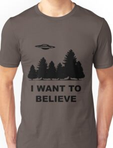 """I want to believe"" X Files Unisex T-Shirt"
